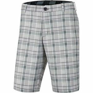 NIKE Men's Flex Plaid Golf Shorts Grey